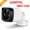 FreeShip New Video Surveillance Security CCTV IR Bullet Camera 1200 tvl 3 IR leds CCTV Camera