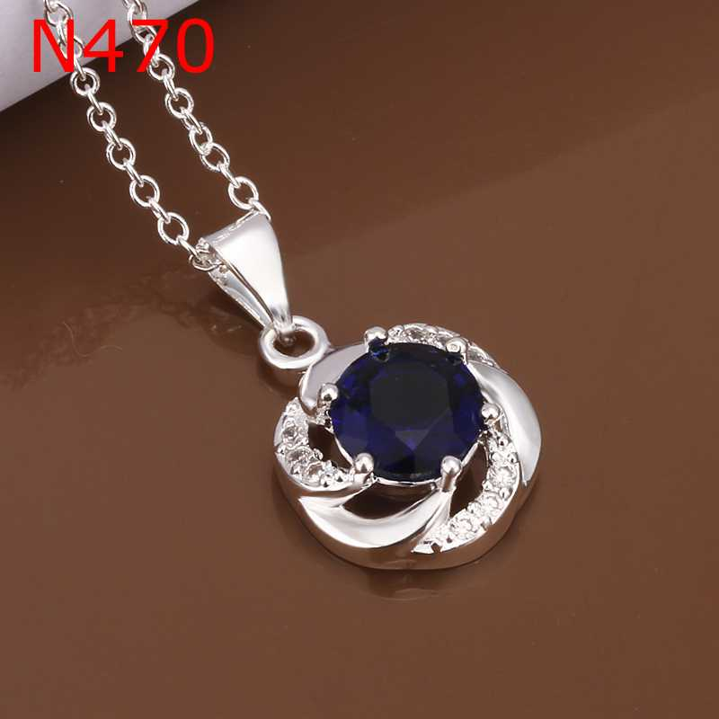 Free Shipping online shopping india silver-plated necklaces & pendants Fashion Crystal collane 100% Hand Madeball(China (Mainland))