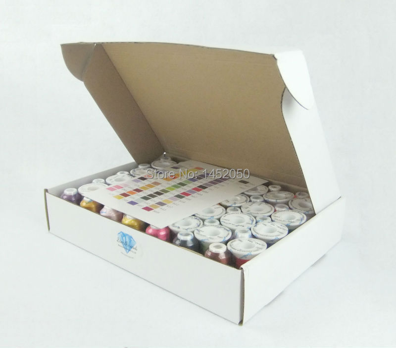 63 colors embroidery machine thread
