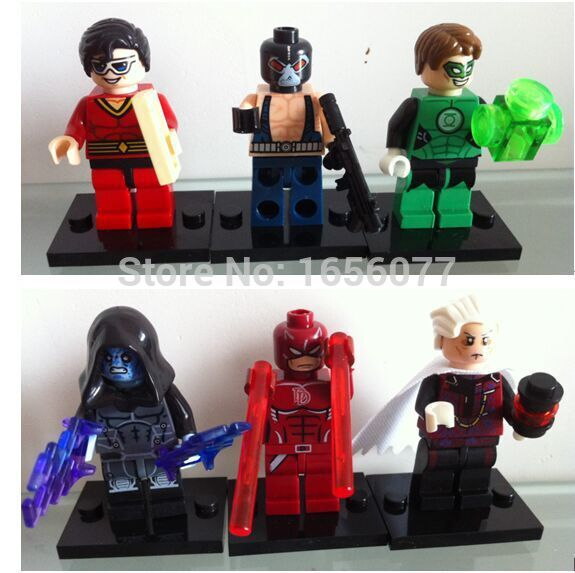 120pcs Decool 0192-0197 Building Blocks Super Heroes MiniFigures DAREDEVIL ELECTRO FLASTIC MAN BANE Bricks Figures baby toys<br><br>Aliexpress