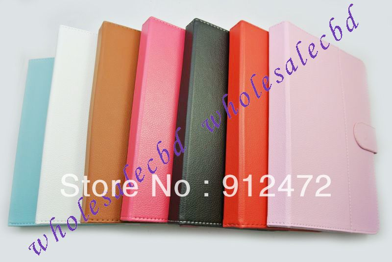 200pcs lot Multi Angle Folio Tablet Case 9 inch Android Window Tablet PC Leather Case free