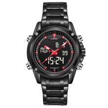 Montres hommes NAVIFORCE marque Sport entièrement en acier Quartz analogique horloge LED Reloj Hombre armée militaire montre-bracelet Relogio Masculino(China)