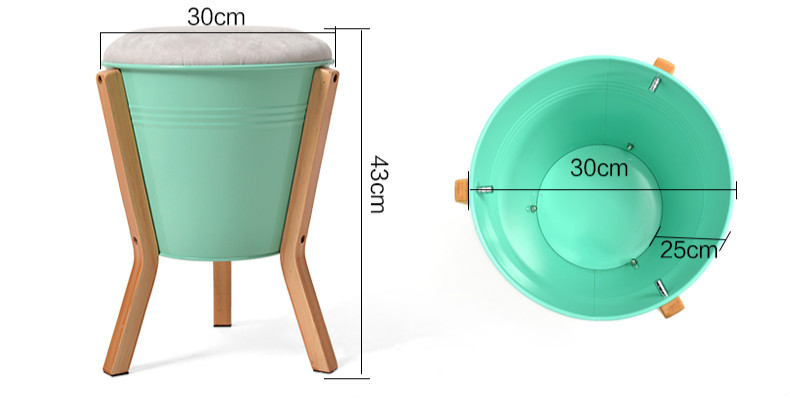 High quality practical small stool modern minimalist fashion creative small stool wooden stool  for shoes 30*43cm