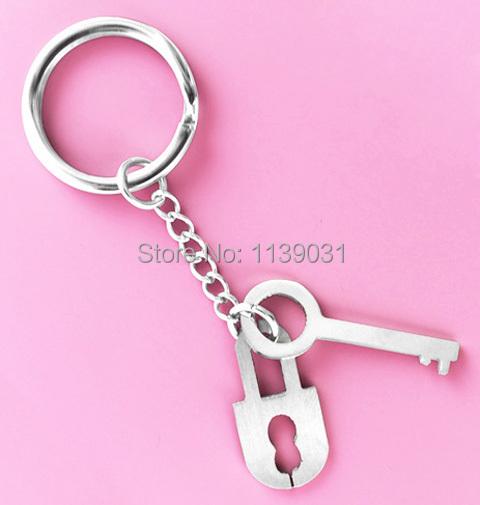 Stainless Steel Key Chains Lock Pendant Fashion charm Men / Women Cool Key Rings Hot New (K1222)(China (Mainland))