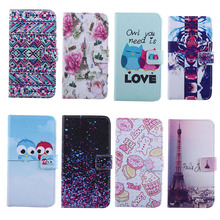 Buy classic eiffel tower tiger pattern cute style Leather Wallet Pouch Hard Case Cover Samsung Galaxy Trend Duos S7562 for $4.56 in AliExpress store