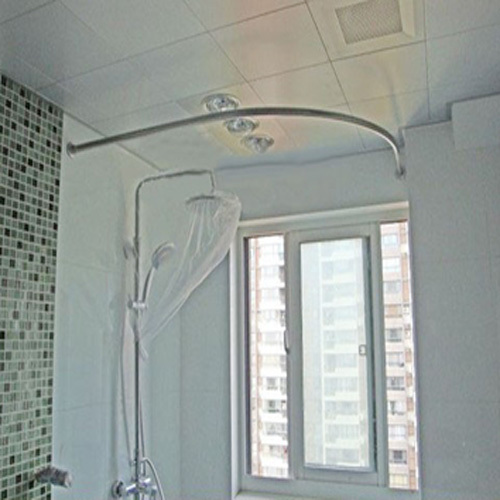 Curved Shower Curtain Rod - Rooms