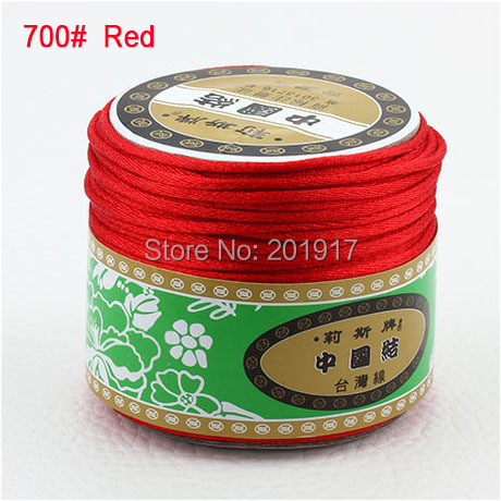 2mm Red Nylon Cord Jewelry Findings Accessories Rattail Satin Thread Macrame Rope Shamballa Bracelet Wire Beading Cords 60m/Roll(China (Mainland))