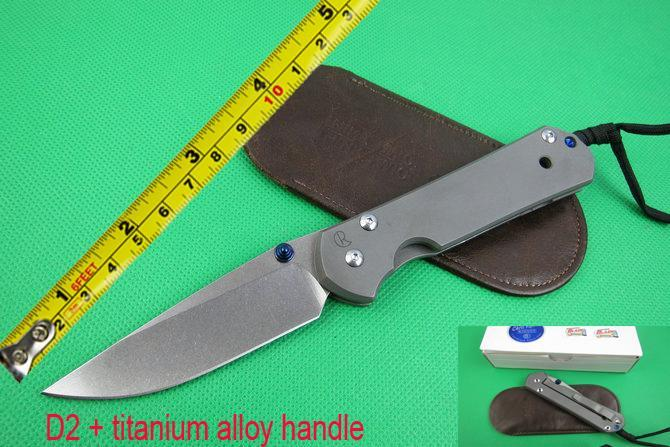 New wild Boar Chris Reeve Sebenza 21 Folding Knife KnifeD2 Blade With Stone Wash TC4 Titanium