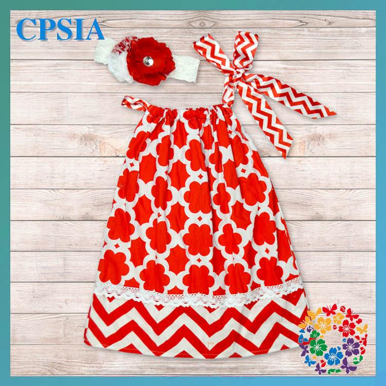 Xmas Design Kid Dress Soft Baby Cotton Frock Chevron Pillowcase Clothing Boutique 2  -  Yiwu City Yihon E-Commerce Firm store