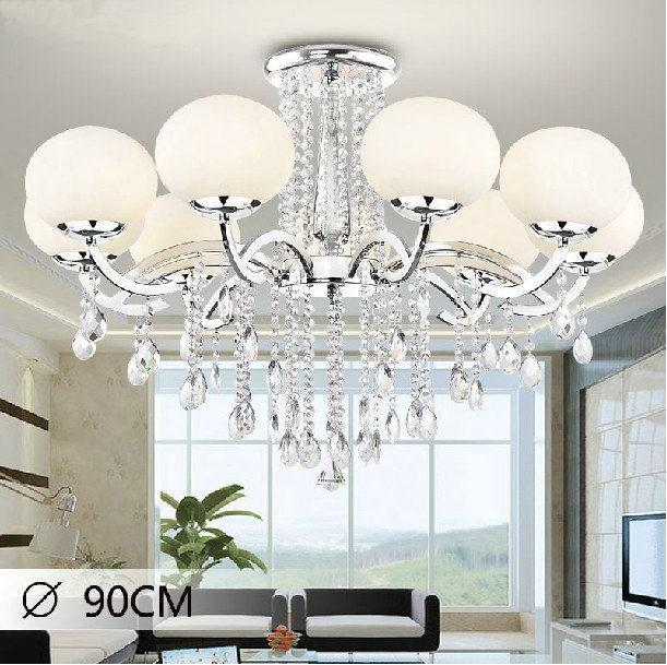 Modern 8 lights k9 crystal chandeliers lustres de cristal lustres lamparas de - Lustre pampilles cristal ...