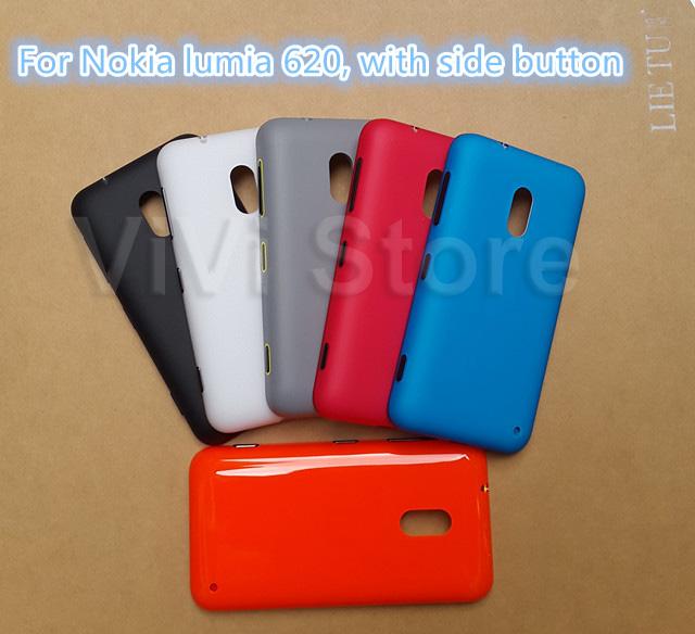 Original New Housing for Nokia lumia 620, Back Cover, Genuine Battery Cover Case for Nokia lumia 620, with side button.(China (Mainland))