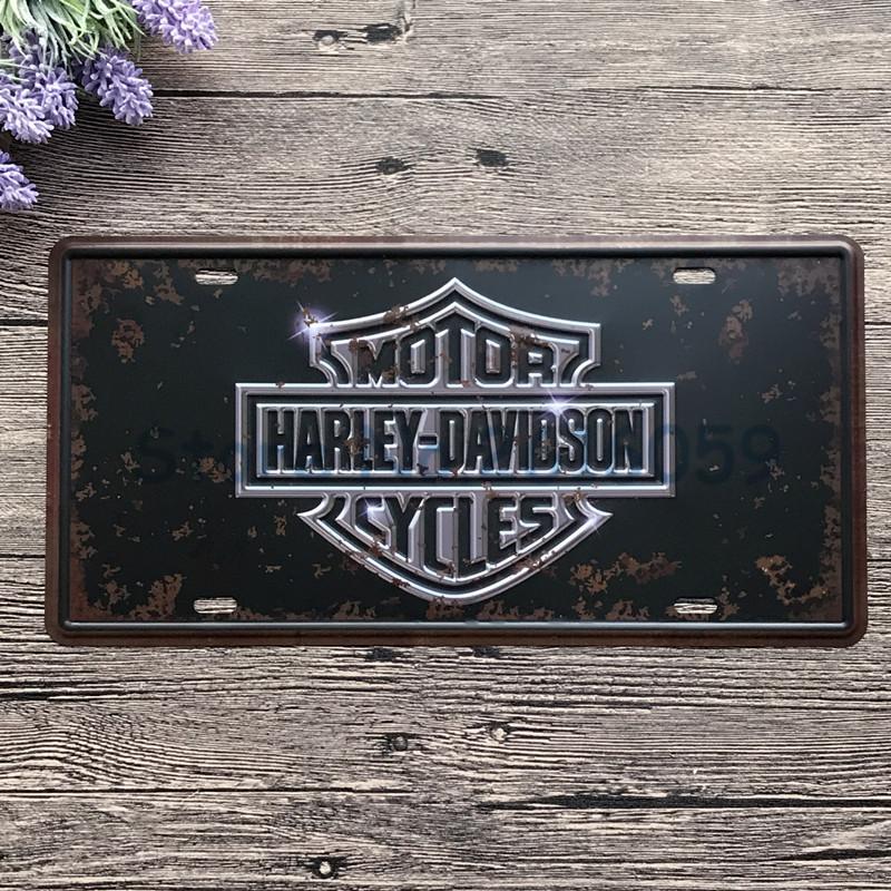 Vintage harley signe promotion achetez des vintage harley for Plaque garage w