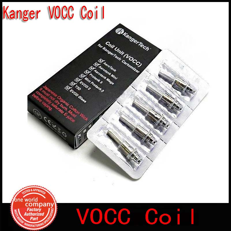 Genuine Kanger VOCC Coil Unit Upgraded VOCC Organic Cotton Wicks For EVOD Mega Aerotank Genitank Protank