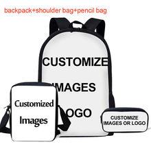 INSTANTARTS حقيبة مدرسية s مجموعة للأطفال متعدد الألوان غالاكسي ستار الفضاء طباعة حقيبة مدرسية سيدة حقيبة كتف مراهق فتاة المدرسة Plecak(China)