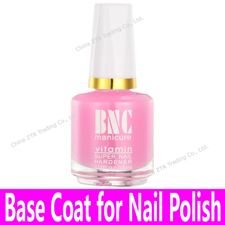 1piece Base Coat for Common Nail Polishes Nail Art Base Oil with Brush Glass Bottle Wholesale Pink Color 15ml Calcium Bottom Oil