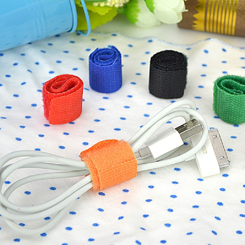 Free shipping 10pcs Phone Accessories cable tie Manufacturer Offering Colorful Nylon Cable Tie USB Line Winder(China (Mainland))