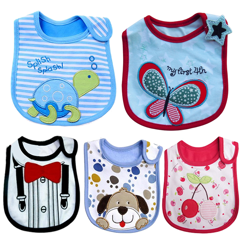 Hot Sale Carters Baby Bibs Waterproof Baby Bibs Cotton Infant Saliva Towels 3 Layer Toddler Burp Clothes Baby Feeding Wear WZ13