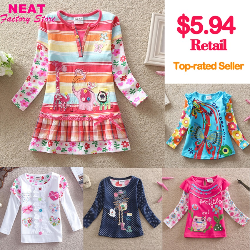 Retail 2015 new brand t-shirts girls long sleeve roupa infantil princess lace children cartoon clothing kids wear nova L3916 MIX(China (Mainland))