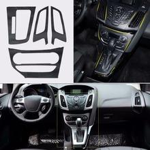 Tracking # Car Interior Molding Center Console Carbon Fiber Stickers Decal Ford Focus 3 MK3 2012 2013 AT Automatic - Eastar4 auto parts store