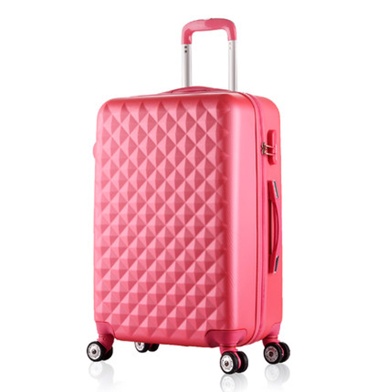 20,24 Inch Woman Travel Case Suitcases,diamond Luggage Bag,ABS Luggage,Rolling Luggage,Pink Suitcase Wheels - Shop1186626 Store store