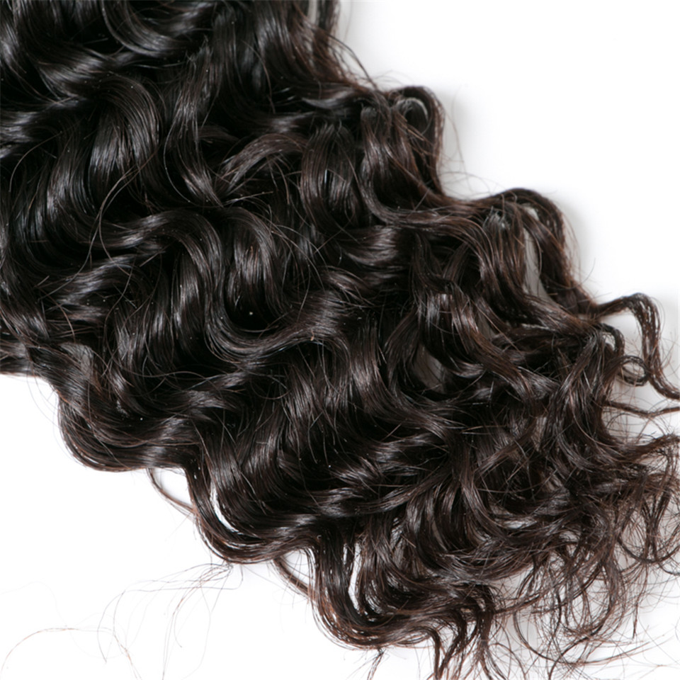 Luduna Deep Wave Brazilian Hair Weave Bundles 1Pcs Non-remy Hair Bundles 8″-28″ Human Hair Weaving Natural Color Can Be Dyed