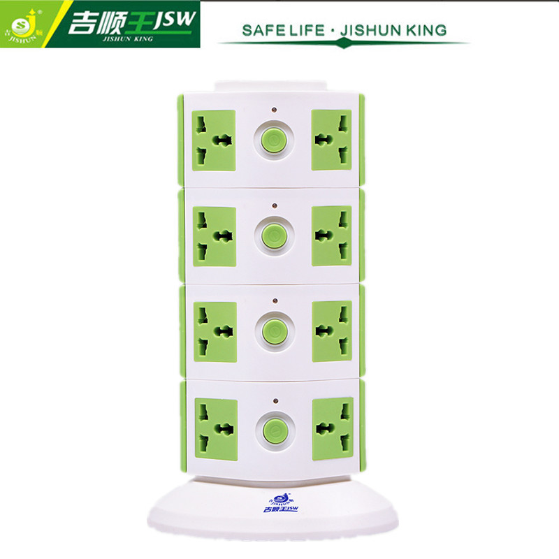 4 Floor 16 Outlet Multi Socket Universal Power Strip with Individual Switches AC Plug Socket Standard Grounding JSW-614K(China (Mainland))