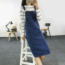 Summer Ladies' Sleeveless Fashion Denim Solid Overalls Dress With Pockets Single Breasted Jeans Casual Dresses For Women CQ474(China (Mainland))