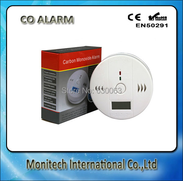 Wholesale-FREE DHL SHIPPING Home Security Safety CO Gas Carbon Monoxide Alarm Detector CE/Rohs/EN50291 Approved with retail box(China (Mainland))