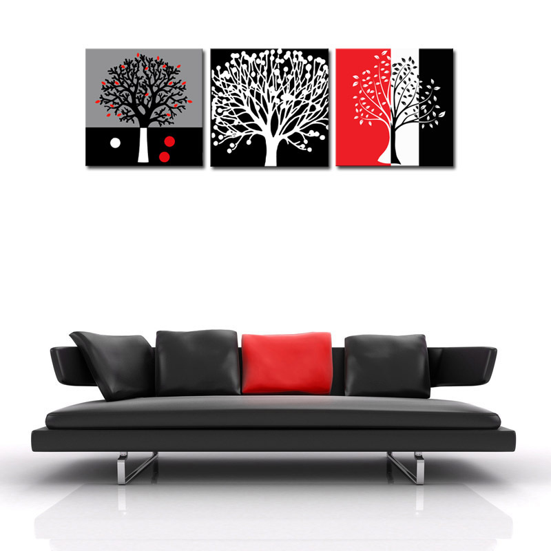 Buy Unframed 3 Sets Abstract Tree Modern Canvas Wall Art Home Wall Decor Hd