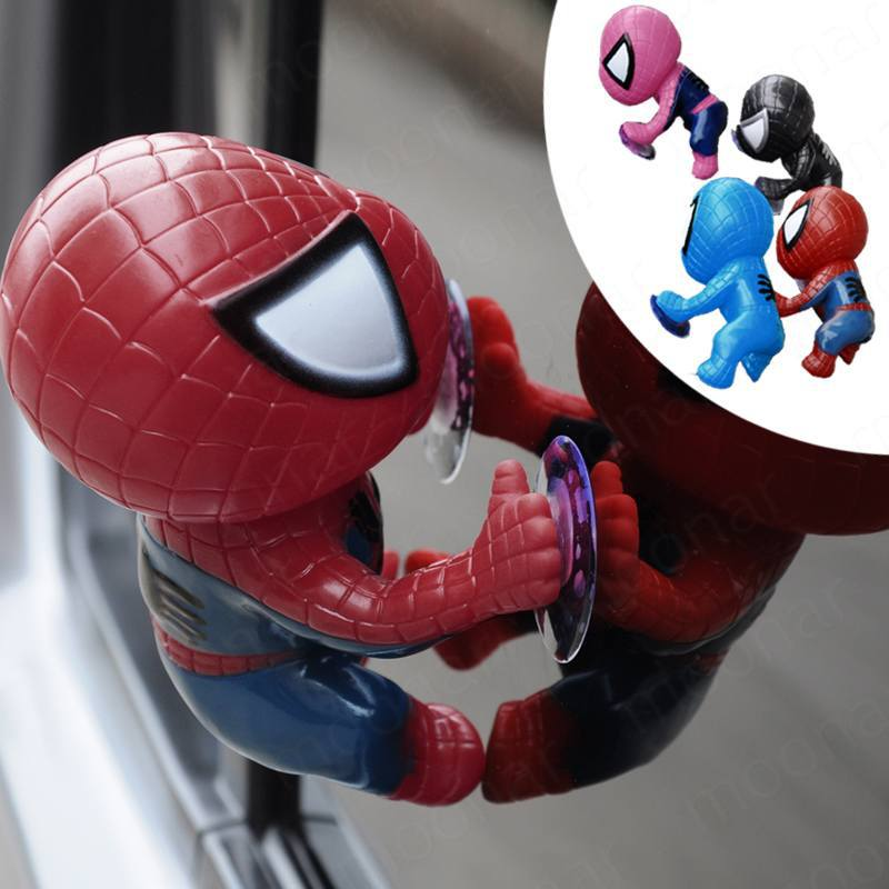 hot selling Spider-Man cartoon car ornaments Q version of Spider-Man doll sucker Car Accessories Decoration (China (Mainland))