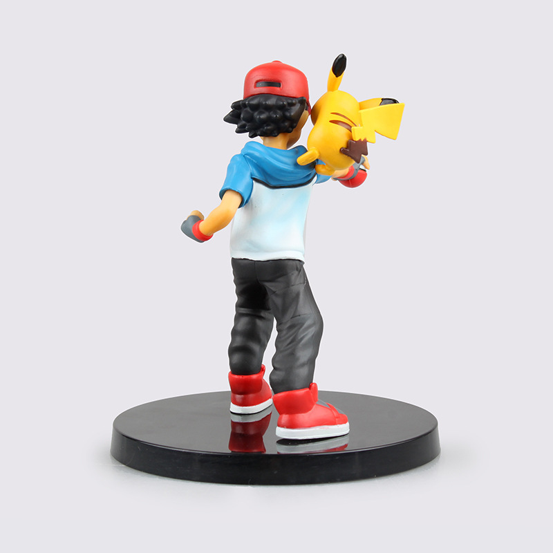 Ash Ketchum Pikachu Anime Pocket Monster Pokemon 13.5cm PVC Action Figure Collectors Kid Toys Brinquedos Giocattoli Collections(China (Mainland))