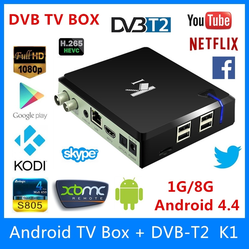 android tv box amlogic k1 dvb t2 s805 quad core 1 g 8 g kodi xbmc mdiea player internet tv. Black Bedroom Furniture Sets. Home Design Ideas