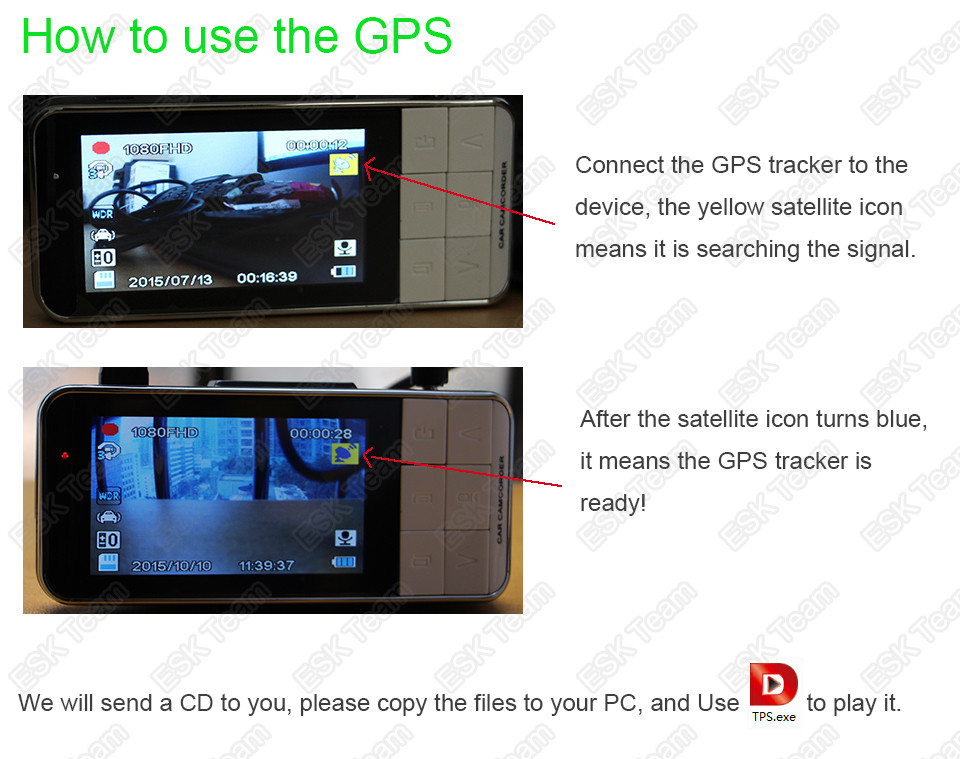 how to use the gps