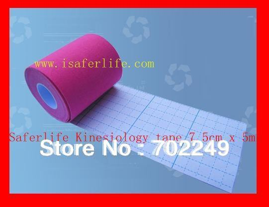 sports game match tennis 7.5cm x 5m Kinesiology Tape Extra Water Resistant - 7.5cm kinesio tape muscle Therapy tape 7.5cm