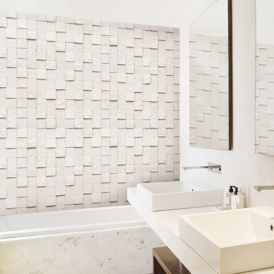 Kitchen bathroom prevent oil mosaic tile self adhesive for Self adhesive bathroom wallpaper
