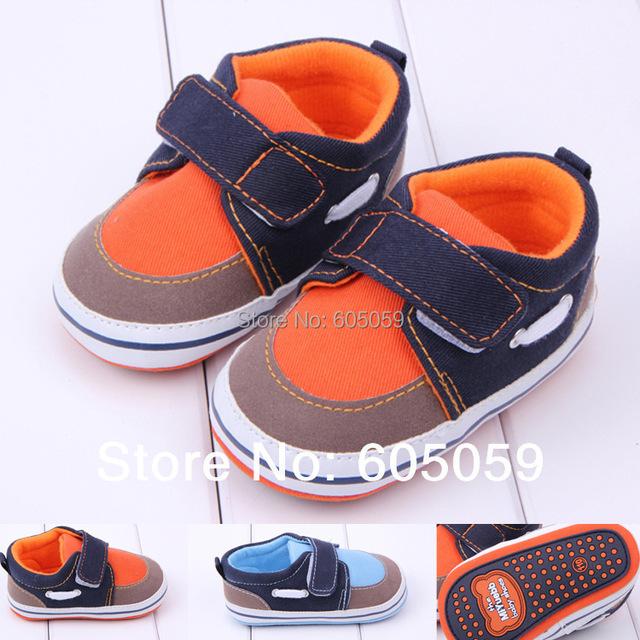 Весна осень новый 0 до 1 летнего возраста ребенок уличной обуви мальчиков мода кроссовки ...