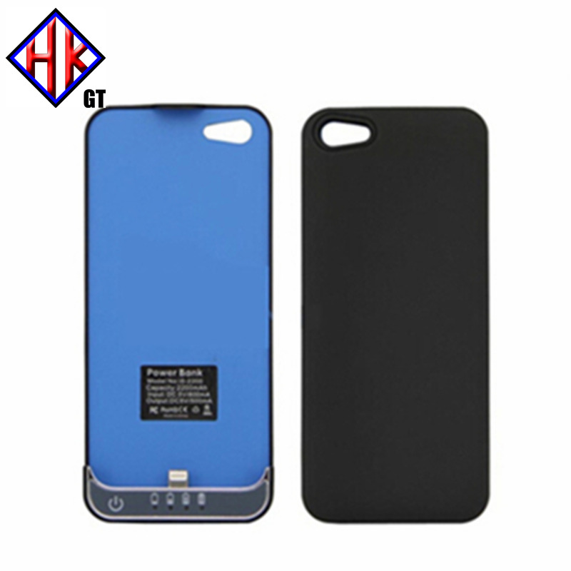 Retail package 2200mah slim for iphone5 power case power bank case extra battery charge for iphone 5 5s ios 9(Hong Kong)