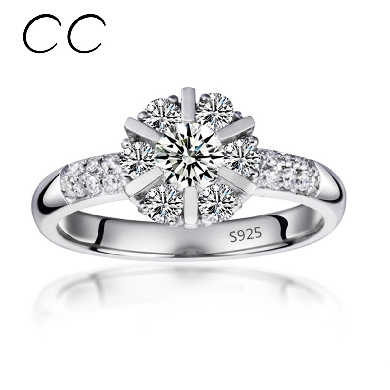 High Quality Cheap Female Rings Created Diamond Engagement Rings for Women Vi