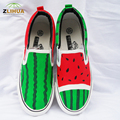 8 Styles Child Shoes Kids Watermelon Cartoon Graffiti Paternity Shoes Hand Painted Canvas Shoes for Boys