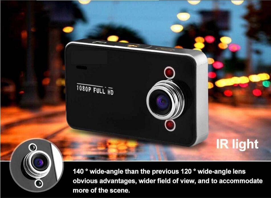 Hot Selling K6000 car dvr camera HD 720P 30FPS 2.4 TFT LCD Vehicle Video Recorder Dash Cam car black box(China (Mainland))