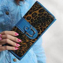Кевин Юн Модные леопардовые женские кошельки из натуральной кожи Длинный дизайнерский Дамский бумажник-ридикюль сумки Carteira Feminina(China)