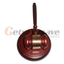 Handcrafted Wood Gavel & Sound Block Lawyer Judge Gift(China (Mainland))