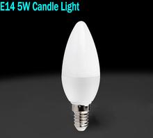 Wholesale 5W E14 Led Candle Bulbs Lights Warm/White High Bright Led Spot Lights NO Dimmable AC 220V CE ROHS(China (Mainland))