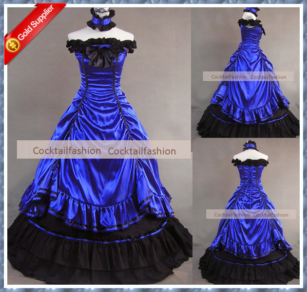 Wedding Dress With Royal Blue Color : Top real sample royal blue color wedding dresses gothic