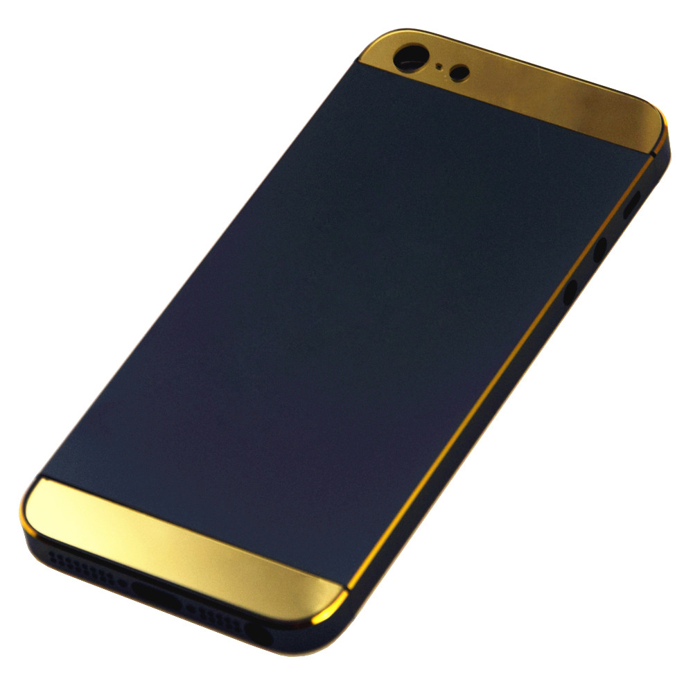 for iphone 5s blackgold back glass gold accentamplogo