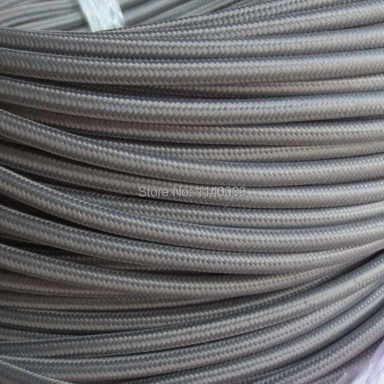 10 meters grey 2 core textile electrical wire color braided wire fabric covered. Black Bedroom Furniture Sets. Home Design Ideas