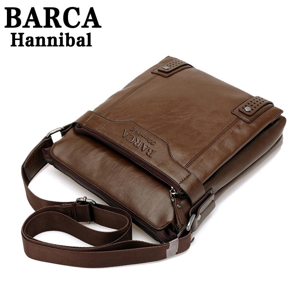2014 New Style Genuine Leather Men Messenger Bags Shoulder BARCA Hannibal Handbags Travel M206 - The-Fox store