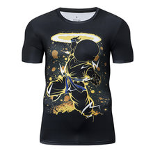 Fashion Anime Dragon Ball Z grappige t-shirt 3D Comics Compressie Tops Anti-pilling Anti-fading Tee Streetwear casual Mannen T-Shirt(China)