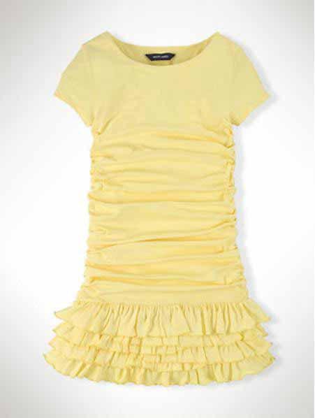 kids princess dress Cotton anti-pilling summer style girl dress catimini with Fold Ruffled Polo girls dress Children' dresses(China (Mainland))