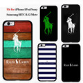 Striped Polo Brand Mobile Phone Cover Case for iPhone 4s 5s 5c 6s 6splus Samsung Galaxy
